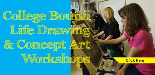Register today for the College Bound Life Drawing & Concept Art Workshops